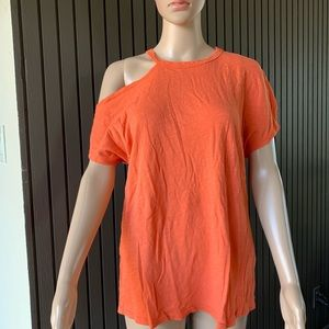 Stateside Asymmetrical Cold-Shoulder Top